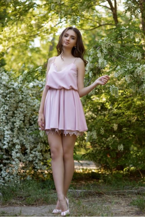 Платье 3418 пудра
